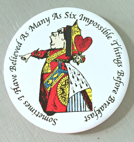 Alice In Wonderland Ceramic Coaster - The Queen of Hearts