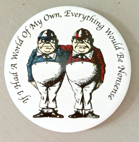 Alice In Wonderland Ceramic Coaster - Tweedle Dum and Tweedle Dee