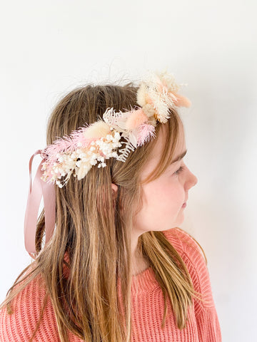 Kid's dried/preserved flower crown