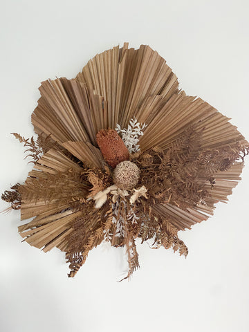 Wall arrangement - dried and preserved flowers & foliage