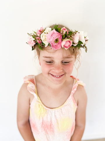 Kid's fresh flower crown