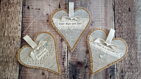 Vintage Heart Hangings