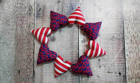 Heart Bunting (Red / Blue)