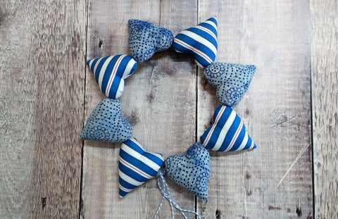Heart Bunting (Blues)