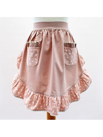 Waist Pinny (Dusty Pink / Spotty Pink)
