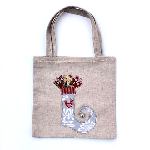 Christmas Stocking Gift Bag (Medium - Grey)