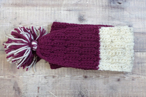 Children's Scarf (Plum & Cream)