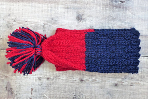 Children's Scarf (Navy & Red)