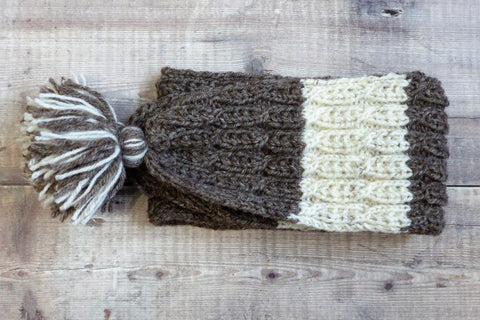 Children's Scarf (Grey & Cream)