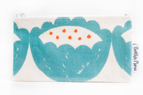 Oilcloth Purse (Blue Flower)