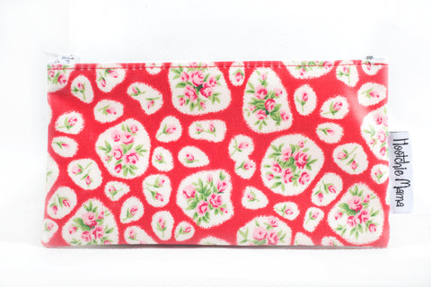 Oilcloth Purse (Red Floral)