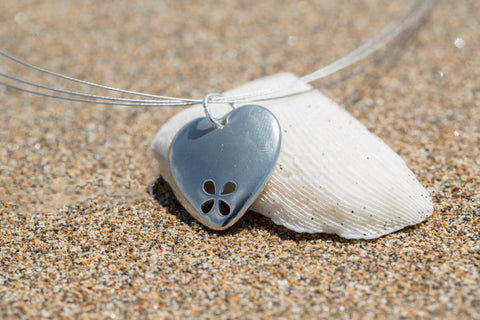 Heart Seaflower Necklace