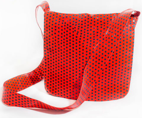 "The ""Dotty Dora"" Oilcloth Messenger Bag"