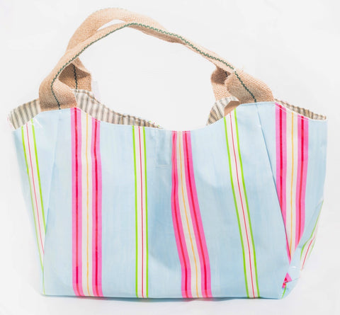 "The ""Candy Stripe"" Oilcloth Bella Bag"