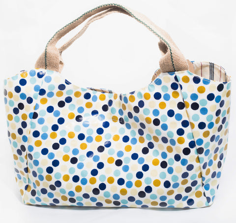 "The ""Piran Pebble"" Oilcloth Bella Bag"