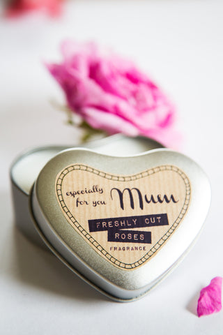 Hand Poured Heart Shaped Tin Candle (Especially for You Mum)