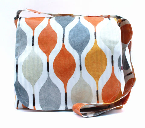"The ""Clementine Cleo"" Oilcloth Messenger Bag"