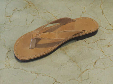 Chanclas cuero natural modelo 17