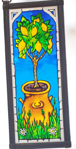 stained glass lemon tree