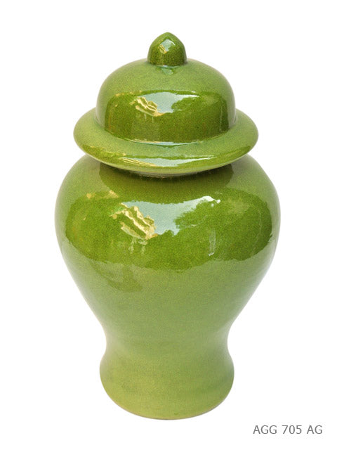 Large Acid Green Temple Jar