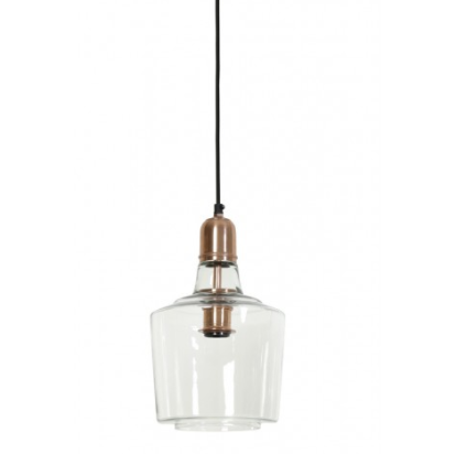 Yoke Glass Copper Hanging Lamp