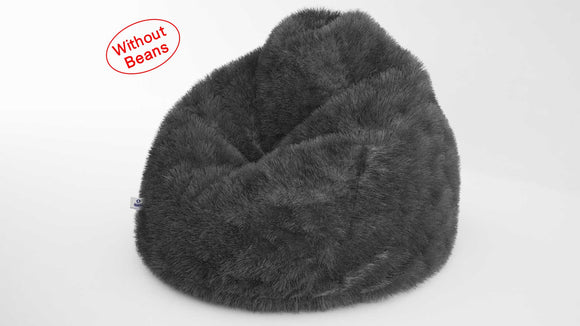 DOLPHIN XXXL FUR BEAN BAG-GREY-ARTIFICIAL(COVER)