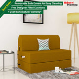 Dolphin Zeal 1 Seater Sofa Bed-Burnish- 3ft x 6ft with Free micro fiber Designer cushions