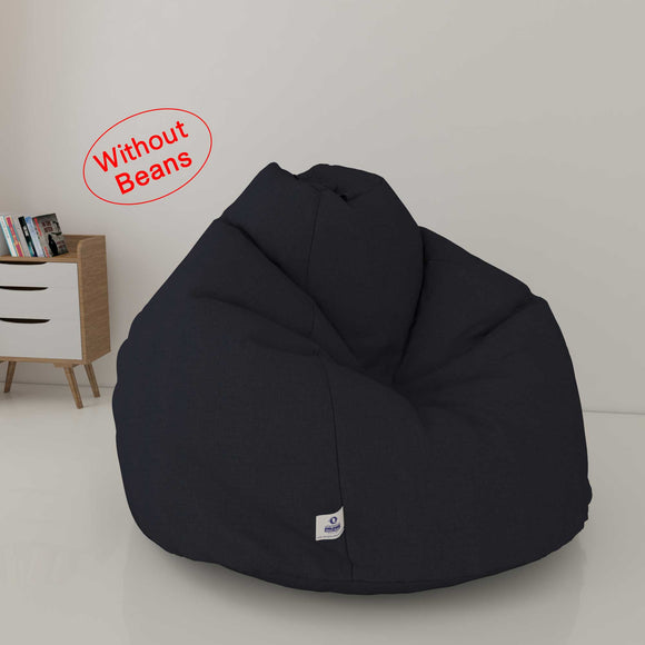 DOLPHIN XL DENIM BEAN BAG- BLACK - WASHABLE (COVER)