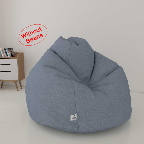 DOLPHIN XXL DENIM BEAN BAG-LIGHT BLUE - WASHABLE (COVER)