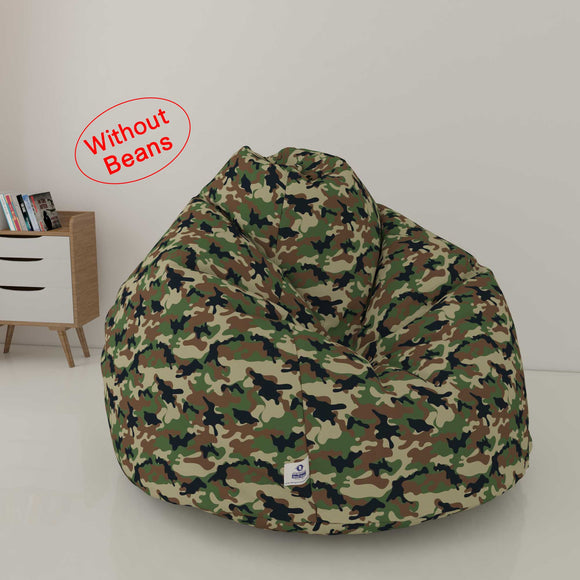 DOLPHIN XXL PRINTED FABRIC BEAN BAG-CAMOUFLAGE- WASHABLE(COVER)