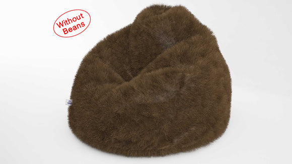 DOLPHIN XXL FUR BEAN BAG-BROWN-ARTIFICIAL (COVER)