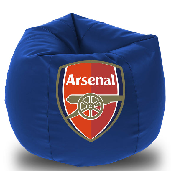 Dolphin Printed Bean Bag XXL- Arsenal- Filled (With Beans)