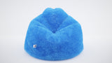 DOLPHIN XL FUR BEAN BAG-BLUE ARTIFICIAL (With Beans)