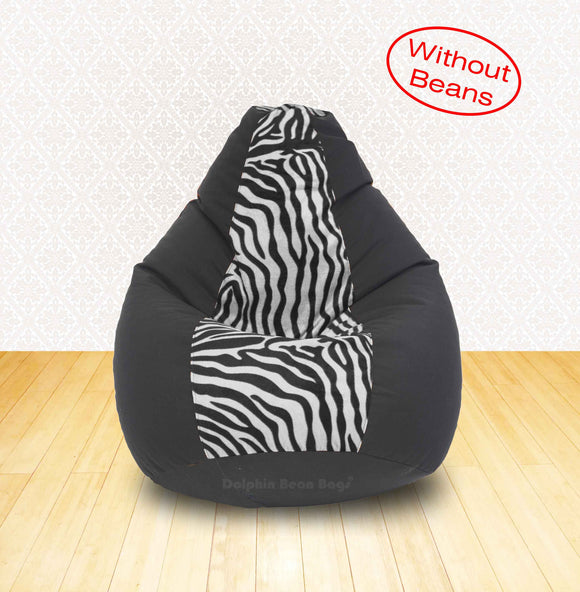 DOLPHIN XL Black/Zebra(Blk-White)-FABRIC-COVERS(without Beans)