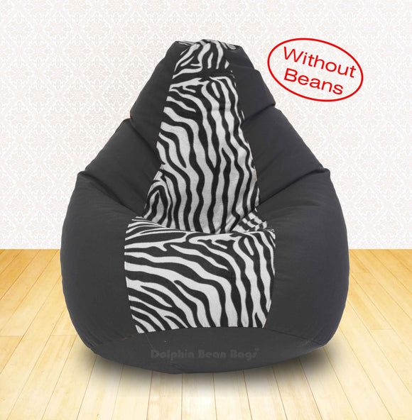 DOLPHIN XXL Black/Zebra(Blk-White)-FABRIC-COVERS(without Beans)
