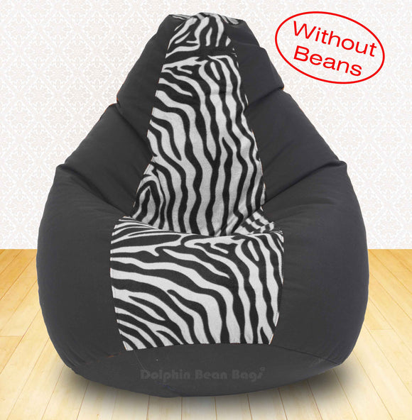 DOLPHIN XXXL Black/Zebra(Blk-White)-FABRIC-COVERS(without Beans)