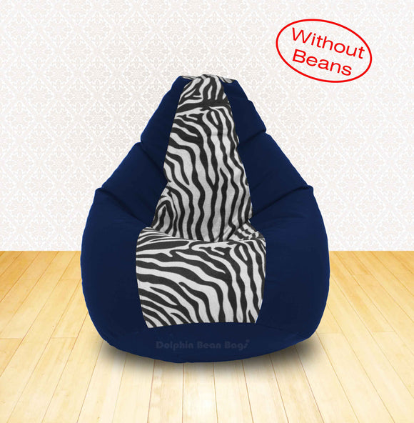 DOLPHIN XL N.Blue/Zebra(Blk-White)-FABRIC-COVERS(without Beans)