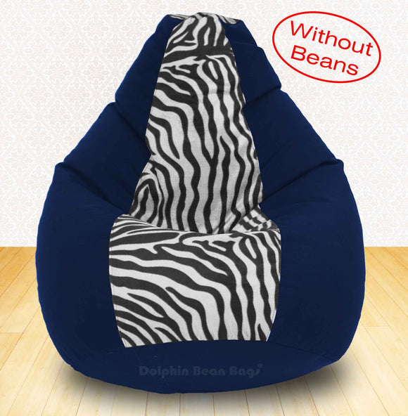 DOLPHIN XXXL N.Blue/Zebra(Blk-White)-FABRIC-COVERS(without Beans)