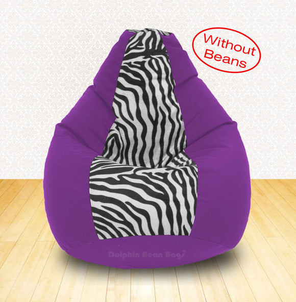 DOLPHIN XXL Purple/Zebra(Blk-White)-FABRIC-COVERS(without Beans)