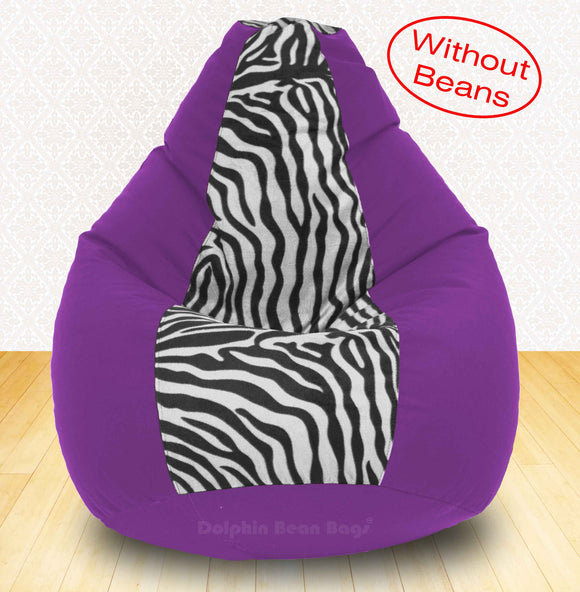 DOLPHIN XXXL Purple/Zebra(Blk-White)-FABRIC-COVERS(without Beans)