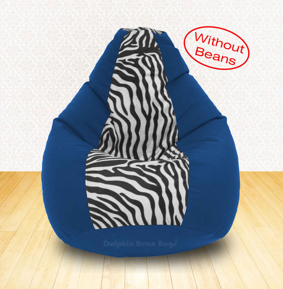 DOLPHIN XXL R.Blue/Zebra(Blk-White)-FABRIC-COVERS(without Beans)
