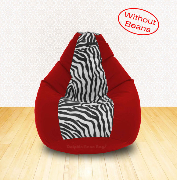 DOLPHIN XL Red/Zebra(Blk-White)-FABRIC-COVERS(without Beans)