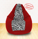DOLPHIN XXL Red/Zebra(Blk-White)-FABRIC-COVERS(without Beans)