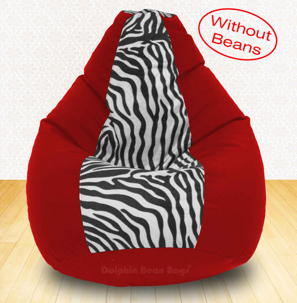 DOLPHIN XXXL Red/Zebra(Blk-White)-FABRIC-COVERS(without Beans)