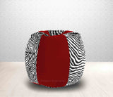 DOLPHIN XL Red/Zebra(Blk-White)-FABRIC-FILLED & WASHABLE (with Beans)