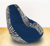 DOLPHIN XXXL R.Blue/Zebra(Blk-White)-FABRIC-COVERS(without Beans)