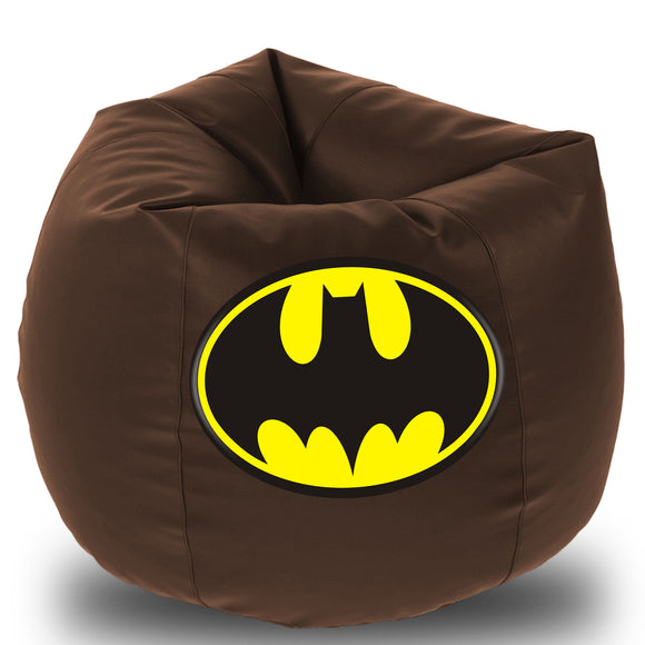 Dolphin Printed Bean Bag XXXL- Batman - Filled (With Beans)