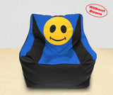 DOLPHIN XXL Beany Chair-Smiley Black/R.Blue-Cover (Without Beans)
