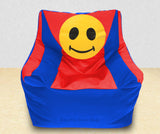 DOLPHIN XXXL Beany Chair-Smiley R.Blue/Red-Filled (With Beans)