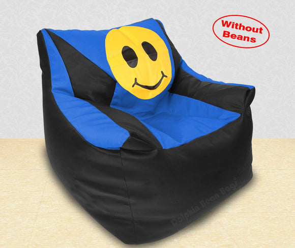 DOLPHIN XXXL Beany Chair-Smiley Black/R.Blue-Cover (Without Beans)